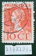 Regeringsjubileumzegel 10 Ct NVPH 124H 124 H (Mi 126) 1923 Gestempeld / USED NEDERLAND / NIEDERLANDE - Period 1891-1948 (Wilhelmina)