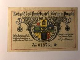 Allemagne Notgeld Sorup 50 Pfennig - Collections