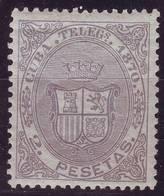 AÑO 1870.CUBA TELEGRAFOS 10 NFS. CENTRAJE DE LUJO VC 415 EUROS - Cuba (1874-1898)