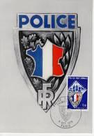 Police Nationale. Timbre De France  YT 1907 Sur Carte Max FDC Cachet  9 Octobre 1976 Paris - 1970-79