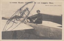 AUTOGRAPHE DE L AVIATEUR LANDRY SUR SON MONOPLAN BOREL MIREBEAU - Airmen, Fliers