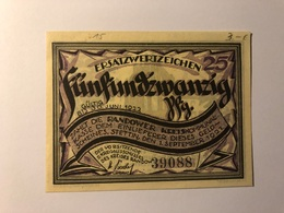 Allemagne Notgeld Stettin 25 Pfennig - Collections