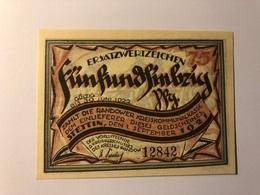 Allemagne Notgeld Stettin 75 Pfennig - Collections