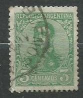 Timbre Argentine 1908-1909 Yvt 135 - Oblitérés
