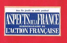 1 Autocollant  ASPECT DE LA FRANCE HEBDOMADAIRE DE L'ACTION FRANÇAISE - Autocollants