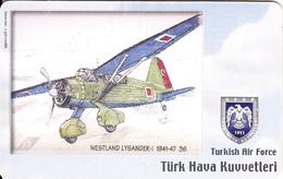 TURKEY(chip) - Airplane, Westland Lysander-I 1941-47 36(50 Units), Used - Avions
