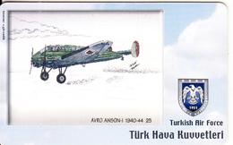 TURKEY(chip) - Airplane, Avro Anson-I 1940-44 25(50 Units), Used - Turquia