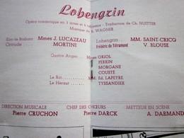 1947/48 -LOHENGRIN--- PROGRAMME OPÉRA De LYON-SPECTACLE-PHOTOS ARTISTES COMÉDIENS -ACTEURS-DANSE-PUBLICITÉ - Programmes