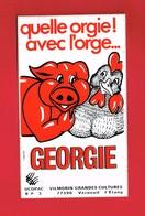 1 Autocollant  GEORGIE VILMORIN GRANDES CULTURES à VERNEUIL L'ETANG Seine-et-Marne Cochon - Autocollants