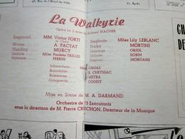 1947/48 -LA WALKYRIE--- PROGRAMME OPÉRA De LYON-SPECTACLE-PHOTOS ARTISTES COMÉDIENS -ACTEURS-DANSE-PUBLICITÉ - Programmes