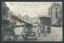 ++ CPA - Militaria - Militaire - FURNES - VEURNE - Guerre - Artillerie Lourde Française - Canon Et Tracteur Automobile// - Guerre 1914-18