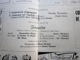 1947/48-JAVOTTE-CONCERT PROPAGANDE- PROGRAMME OPÉRA De LYON-SPECTACLE-PHOTOS ARTISTES COMÉDIENS -ACTEURS-DANSE-PUBLICITÉ - Programmes