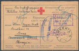 AUSTRIA - WW I - Carte Postale (réponse) - Croix Rouge, From Taskent (Turkestan) To Graz - Lettres & Documents