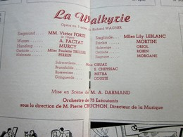 1947/48-LA WALKYRIE- ORCHESTRE -- PROGRAMME OPÉRA De LYON-SPECTACLE-PHOTOS ARTISTES COMÉDIENS -ACTEURS-DANSE-PUBLICITÉ - Programmes