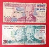 Billet. 2. Un Bir Milyon Et Un Yirmi Milyon - Turkey