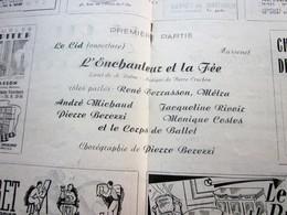 1947/48-L'ENCHANTEUR & LA Fée-BALLET PROGRAMME OPÉRA De LYON-SPECTACLE-PHOTOS ARTISTE COMÉDIENS -ACTEURS-DANSE-PUBLICITÉ - Programmes