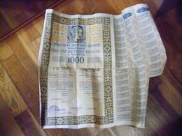 VARSOVIE - WARSZAWIE - POLOGNE - POLAND - ACTION DE 1000 FRANCS FRANCAIS 1929  SOCIETE DU CREDIT FONCIER A VARSOVIE - Banque & Assurance