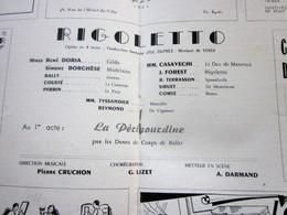 1947/48-RIGOLETTO -LA PERIGOURDINE- PROGRAMME OPÉRA De LYON-SPECTACLE-PHOTOS ARTISTE COMÉDIENS -ACTEURS-DANSE-PUBLICITÉ - Programmes
