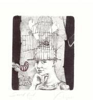 "Kerin Hristo   C3 C5  Col      98x88   17/XIX  ""Gabbia"" - Ex Libris"