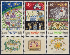 ISRAEL 1991 Nº 1142/44 USADO CON TAB - Usados (con Tab)