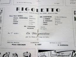 1947/48- RIGOLETTO -LA PERIGOURDINE -PROGRAMME OPÉRA De LYON-SPECTACLE-PHOTOS ARTISTE COMÉDIENS -ACTEURS-DANSE-PUBLICITÉ - Programmes