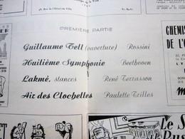 1947/48-GUILLAUME TELL-8é SYMPHONIE--PROGRAMME OPÉRA De LYON-SPECTACLE-PHOTOS ARTISTE COMÉDIENS -ACTEURS-DANSE-PUBLICITÉ - Programmes