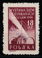 POLAND POLSKA 1950 GROSZY OVPT Type 23A WARSZAWA PURPLE Mi.598 MNH STAMP - 1944-.... République