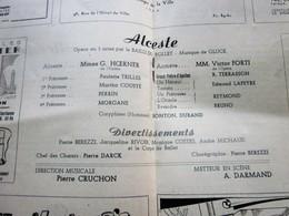 1947/48-ALCESTE-DIVERTISSEMENTS - PROGRAMME OPÉRA De LYON-SPECTACLE-PHOTOS ARTISTE COMÉDIENS -ACTEURS-DANSE-PUBLICITÉ - Programmes