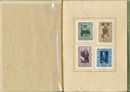 Lichtenstein - Courvoisier Vorlageheft  Zumstein 255-258 / Michel 311-314 - Essais & Réimpressions