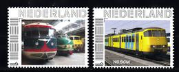Trein, Train, Eisenbahn, Nederland Persoonlijke Zegel: NS SGM + 3 Treinen Op Een Rij - Treinen