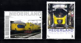 Trein, Train, Eisenbahn, Nederland Persoonlijke Zegel: NS ICM, Videoschouwtrein + Trainwash - Treinen