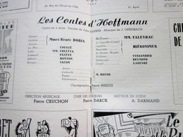 1947/48- LES CONTES D'HOFFMANN- PROGRAMME OPÉRA De LYON-SPECTACLE-PHOTOS ARTISTE COMÉDIENS -ACTEURS-DANSE-PUBLICITÉ - Programmes