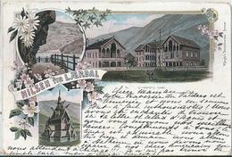 Superbe Cpa   De SUEDE  -    HILSEN  Fra  LAERDAL     -     Lindstroms Hotel   En  1899   - - Macedonia
