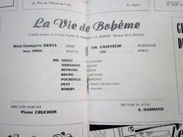 1947/48- LA VIE DE BOHEME   - PROGRAMME OPÉRA De LYON-SPECTACLE-PHOTOS ARTISTE COMÉDIENS -ACTEURS-DANSE-PUBLICITÉ - Programmes