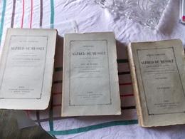 MUSSET (Alfred De).   Oeuvres.   Paris CHARPENTIER 1867 1 Ornées De Dessins De M. BIDA Gravés En Taille-douce.3 VO - French Authors