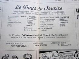 1947/48-PAYS DU SOURIRE-BALLET CHINOIS-PROGRAMME OPÉRA De LYON-SPECTACLE-PHOTOS ARTISTE COMÉDIEN-ACTEURS-DANSE-PUBLICITÉ - Programmes