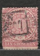 Norddeutscher Postbezirk  - Chiffre - Ein Groschen - Année 1868 - Mi DE-NDP 4 - Norddeutscher Postbezirk