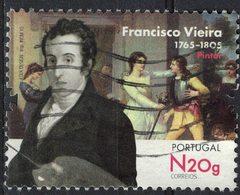 Portugal 2015 Oblitéré Used Pintor Francisco Vieira Portuense Peintre SU - 1910-... République