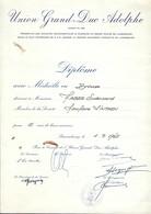 DIPLÔME  -  UNION-GRAND-DUC ADOLPHE - Diplômes & Bulletins Scolaires