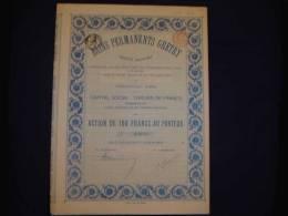 """Action""""Bains Permanents Gretry"""" Liège 1907. - Eau"""