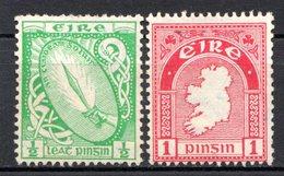 IRLANDE - (Etat Libre) - 1922-24 - N° 40 Et 41 - (Lot De 2 Valeurs Différentes) - (Glaive De Lumière Et Carte) - 1922-37 Stato Libero D'Irlanda