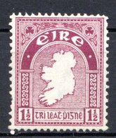 IRLANDE - (Etat Libre) - 1922-24 - N° 42 - 1 1/2 P. Lilas - (Carte) - Nuovi