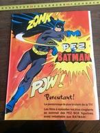 ANNEES 60 RARE PUBLICITE BONBON PEZ BOX BATMAN LE JAMES BOND DE L AN 2000 - Alte Papiere