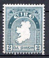 IRLANDE - (Etat Libre) - 1922-24 - N° 43 - 2 P. Vert-gris - (Carte) - Nuovi