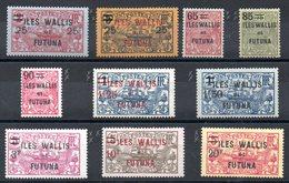 WALLIS ET FUTUNA - YT N° 30 à 39 - Neufs **/* - MNH/MH - Cote: 139,75 € - Wallis-Et-Futuna
