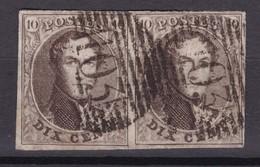 N° 10  Paire Margée : 103 SAINT GHISLAIN - 1858-1862 Médaillons (9/12)