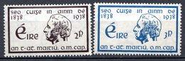 IRLANDE - (Etat Indépendant) - 1938 - N° 73 Et 74 - (Centenaire De La Croisade Du Père Mathew Contre L'intempérance) - 1922-37 Stato Libero D'Irlanda
