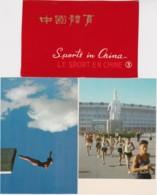 Bt - Lot De 9 CPM Le Sport En CHINE - Sports In China (Motorcycling, Cycling, Marathon, Diving, Hurdles, High Jump - Chine