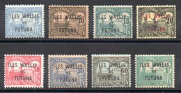 WALLIS ET FUTUNA - YT Taxe N° 1 à 8 - Neufs * - MH - Cote: 17,00 € - Wallis-Et-Futuna