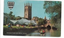Inghilterra England Magdalen Tower And Bridge Oxford Viaggiata 1975 Condizioni Come Da Scansione - Oxford
